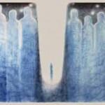 Осознание вечности, Шелк, масло 90х70