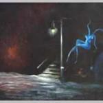 Призрак, Холст. масло 90х90