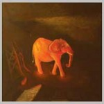 Раскаленный слон. Холст, масло 90х90